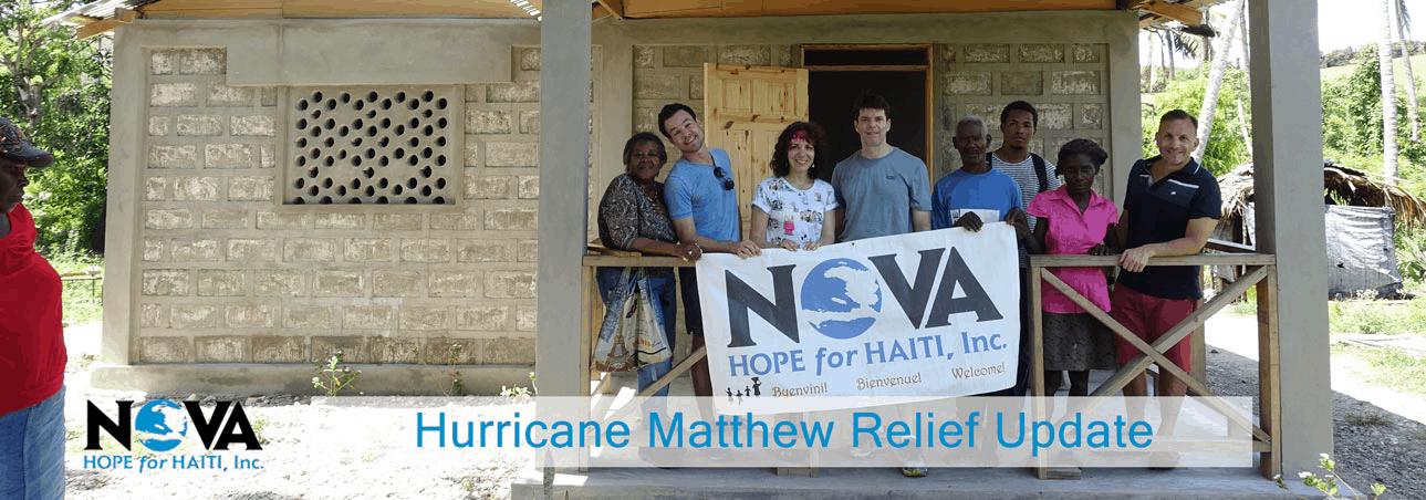 Hurricane Matthew Relief Update
